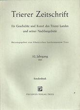 Trierer Zeitschrift Sonderdruck 1969 Der Streitwagen der Treverer - Trier Mosel
