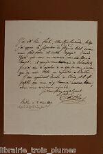 ✒ L.A.S. colonel Ange François BLEIN au commandant MARESCOT campagne de PRUSSE 2