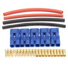 10Pcs EC3 3.5mm Bullet Lipo RC Battery Plug Female&Male Connectors & Heat Shrink