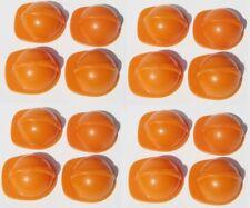 Playmobil Baustelle 16 x BAUHELM Klicky orange Helm Eisenbahn 4027 Bauarbeiter