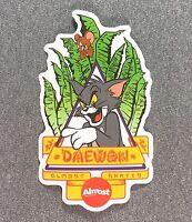 Almost x Hanna-Barbera Daewon Tom & Jerry Skateboard Sticker 5.75in