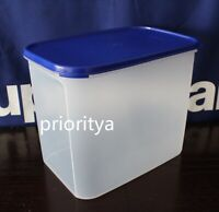 Tupperware Modular Mates Rectangular #4 Container Sapphire Blue Seal New