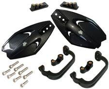 Carbon Hand Guards Protectors Plastic MX SM Fits Kawasaki KLR650 C1-C8 95-03
