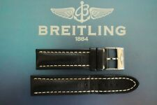 BREITLING 435X 22-20 BLACK OILED CALF TONGUE BUCKLE WATCH BAND WATCHBAND STRAP 9