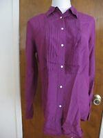 Lauren Ralph Lauren  purple cotton silk women's long sleeves top size 12 New