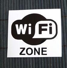 adesivo Wi Fi ZONE sticker decal vynil auto moto car wifi internet computer