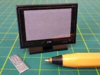 Dolls House Miniature 1/12th Scale Small Plasma TV - Various Colours Available