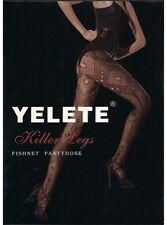 Yelete Killer Legs Pantyhose NEW seamless designer Spandex One size BLACK  HD022