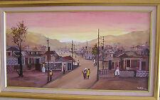 Stunning  16X30 Painting by Haitian Artist R. Valbrun