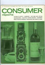 1959 Consumer Reports:21in. TV Sets/Camaras/Dauphine & Simca Elysee Road Tests