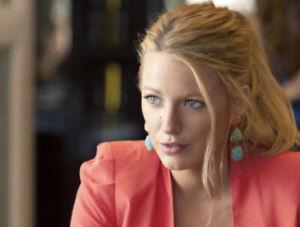 Oscar de la Renta Cabochon Earrings Blake Lively Gossip Girl Gold Plated Pink