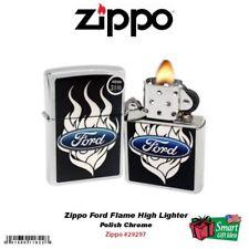 Zippo Ford Flame High Lighter, Polish Chrome #29297