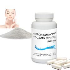 Hydrolyzed Marine Collagen Peptides (Unflavored) Powder Vegetarian 100 Capsules