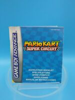 jeu video notice BE nintendo gameboy advance NEU5 mario kart super circuit