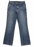 Cotton star jeans tg 46 w32 gamba dritta vintage uomo blu boyfriend usato T223