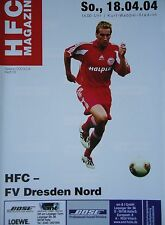 Programm 2003/04 HFC Hallescher FC - Dresden Nord