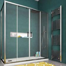 Box doccia 170x80 cristallo opaco reversibile porta scorrevole ingresso centrale