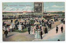 1917 ARGENTINA TO BRAZIL RARE RACECOURSE HORSES COLOR POSTCARD, WOW