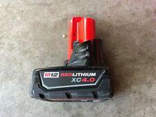 Milwaukee m12 12v 4ah Redlithium XC 4.0 Battery