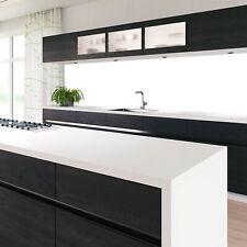 Küchennischen Deko Küchenrückwand Spritzschutz Wandschutz GLAS OPTIK WEISS 68