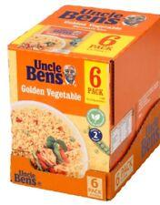 Uncle Ben's Box 6 Golden Vegetable Rice Microwave