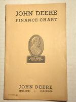 Vintage John Deere Dealer Finance Charts - Booklet