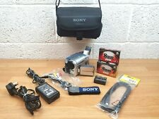 Sony Handycam DCR-TRV255E Digital 8 Camcorder With Cables Charger 3 Tapes VGC