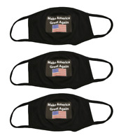 Trump Make America Great Again Face Mask - 3pcs Reusable & Washable Face
