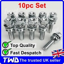 10 x EXTRA LONG 37MM ALLOY WHEEL BOLTS FOR PORSCHE 911 996 997 SPACERS -10PS37