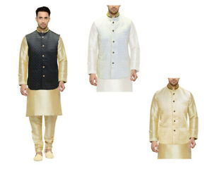 Men's Designer Indian Waistcoat Nehru Jacket  Wedding Pakistani Koti MJ760
