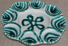 Gmundner Keramik Eierteller,grün geflammt, gebraucht