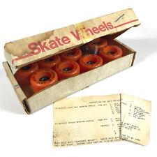 Nos Vintage Roller Derby 28 Wheels Bearings 8 Roller Skate Orange