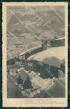 Belluno Passo Tre Croci Nevicata Slitte cartolina QT3743