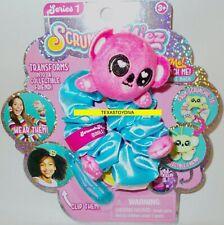 SCRUNCHMIEZ Scrunch Miez QUIGLEY Plush Pink KOALA HAIR SCRUNCHIE Backpack Clip