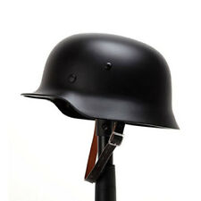 Black WW2 German Elite WH Army M35 M1935 Steel Helmet Stahlhelm Retro Brilliant