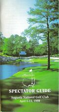 1999 MASTERS SPECTATOR GUIDE BOOK (JOSE MARIA OLAZABAL) + SUNDAY PAIRING SHEET