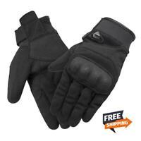 All Season Black Motorcycle Gloves Breathable Touch Screen Non-slip Motocross