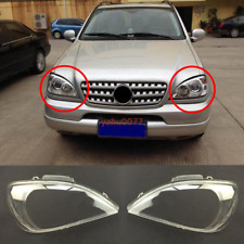 For Mercedes-Benz ML Class W163 Left & right Headlight Headlamp Lens Cover 2pcs