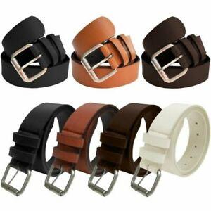 """Kruze Designer New Mens BeltsPU Leather Buckle Belt For Jeans Waist 32""""- 60"""""""