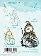 LEANE creatief-Chiara aggrapparsi TIMBRO DOODLE SNOWMAN - 55.1314 ridotto