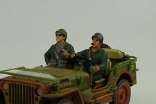 Us army driver conducteur soldier set 2 personnage 1:18 figures AMERICAN DIORAMA no car