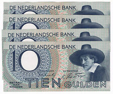 1 x PL 40 NL 8 9AR 10 Gulden AU 23 Januar 1943 Holland Pick 59 Netherlands