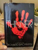 Thinner by Richard Bachman AKA Stephen King 1984 True 1st Ed 3rd Print HB DJ GC!