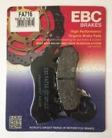 Honda CB125F (GLR125) (2017 to 2018) EBC Organic FRONT Disc Brake Pads (FA716)