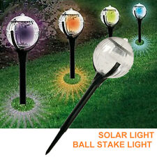 LED Pathway Light Color Changing Solar Ball Stake Light Garden Outdoor Lamp