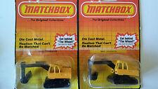 Lot of 2 True Vintage 1983 - MATCHBOX - Excavator No. 32 - Construction Vehicles