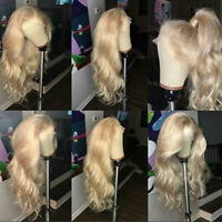 100% Top Malaysian Remy Human Hair Wig 13X6 Lace Front/Full Lace Wig Blonde Wavy