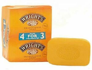 4x Wrights Traditional Coal Tar Soap Coal Tar Fragrance All Skin Types