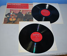 Rostropovich Richter - Beethoven Piano 1960s 2 Record VINYL LPs Italy!