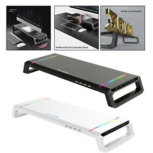 Monitor Stand Riser RGB Suppor Charging Desk Holder Bracket for Laptop Computer